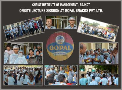 Onsite Lecture Session at Gopal Snacks Pvt. Ltd.