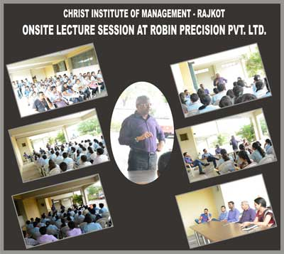Onsite Lecture Session at Robin Precision Pvt. Ltd.